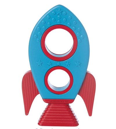 Manhattan Toy Space Themed Rocket Silicone Teether