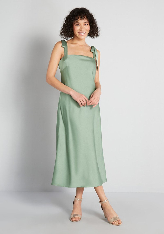 ModCloth x Hutch Tie-Shoulder Midi Dress