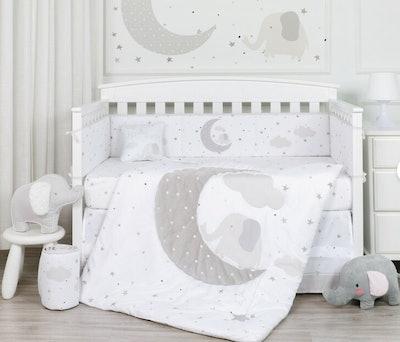 Mccarroll Good Moon'n 5 Piece Crib Bedding Set