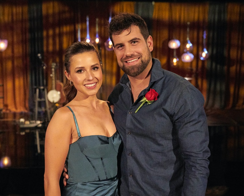 Katie Thurston and Blake Moynes behind the scenes of 'The Bachelorette' via ABC's press site