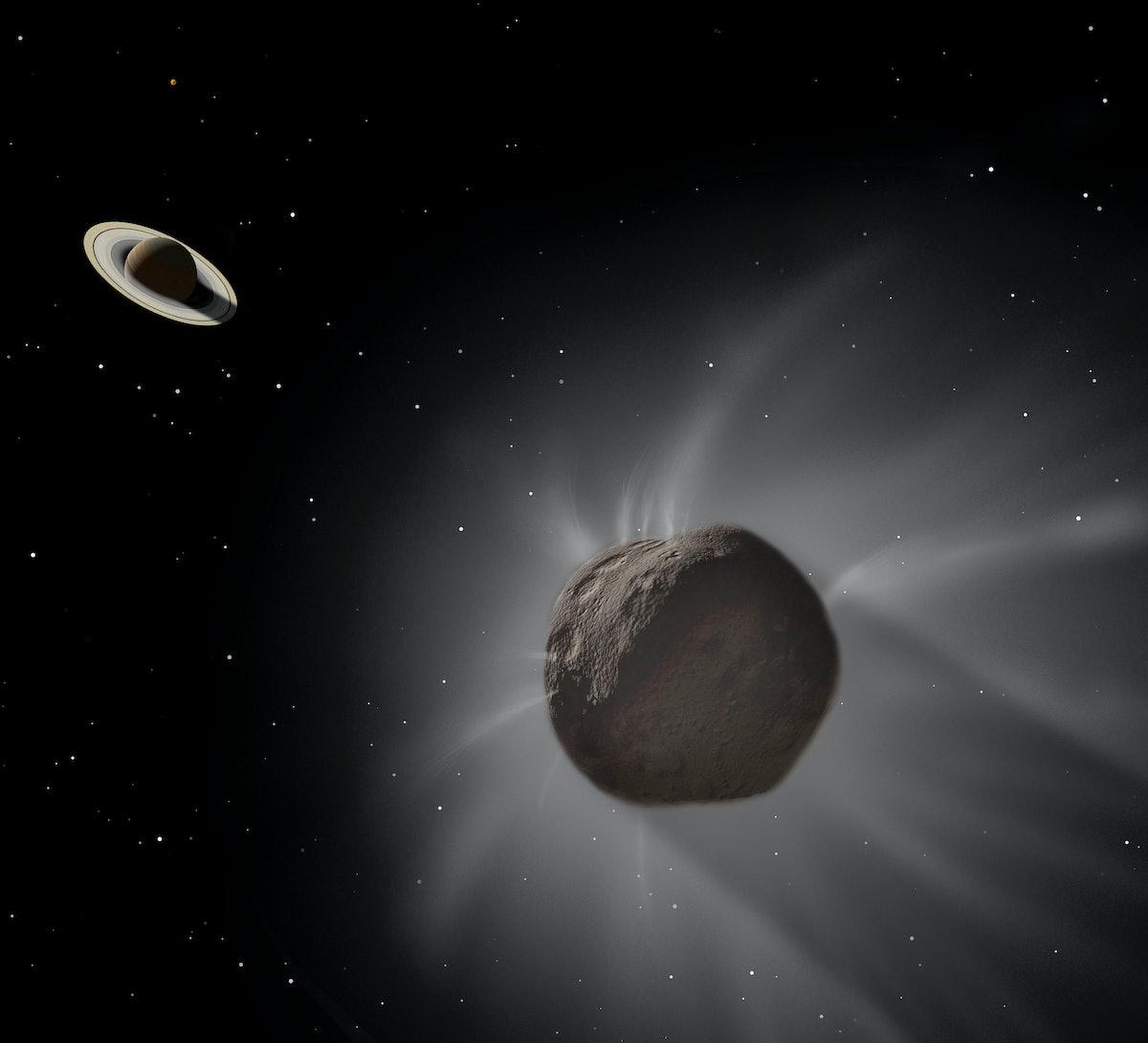 Chiron passing near Saturn ahead of Chiron retrograde 2021.