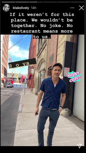 Ryan Reynolds stands outside Boston's O Ya restaurant.