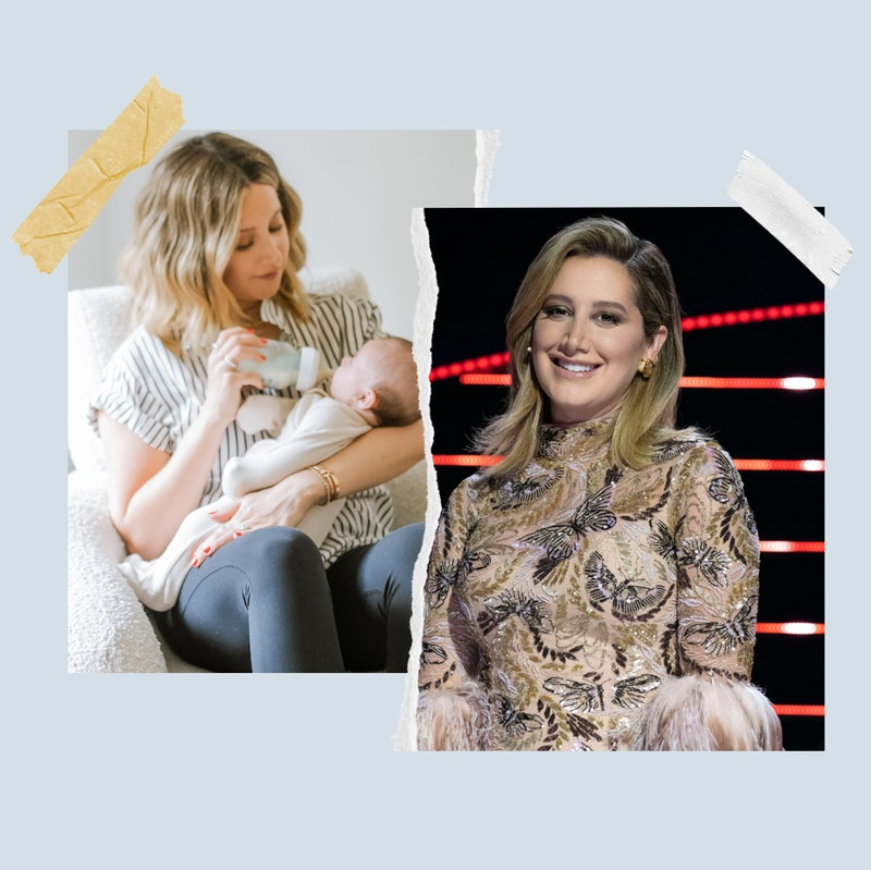Ashley Tisdale and her baby Jupiter.