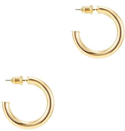 PAVOI Gold Plated Hoop Earrings