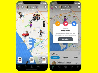 Here's how to use Snap Map's My Places Tray to visit new restaurants.