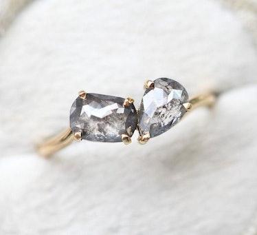 Galaxy Salt & Pepper Diamond Ring