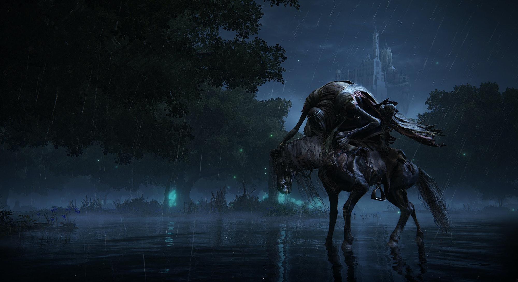 monstrous knight on horseback from Elden Ring