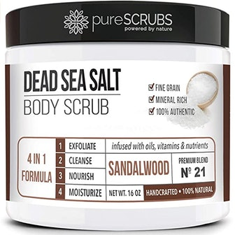pureSCRUBS Dead Sea Salt Scrub Set (4 Pieces)