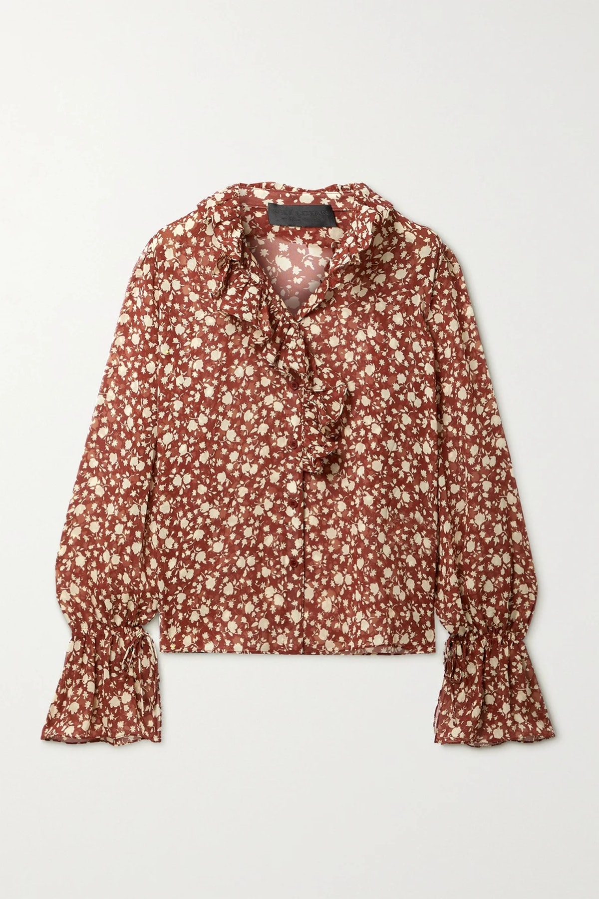 Cecily ruffled floral-print silk-chiffon blouse from Nili Lotan, available to shop on Net-a-Porter.