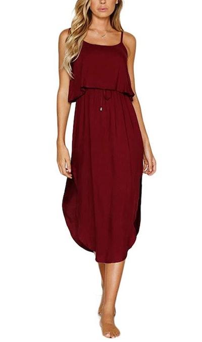 NERLEROLIAN Adjustable Strap Midi Dress