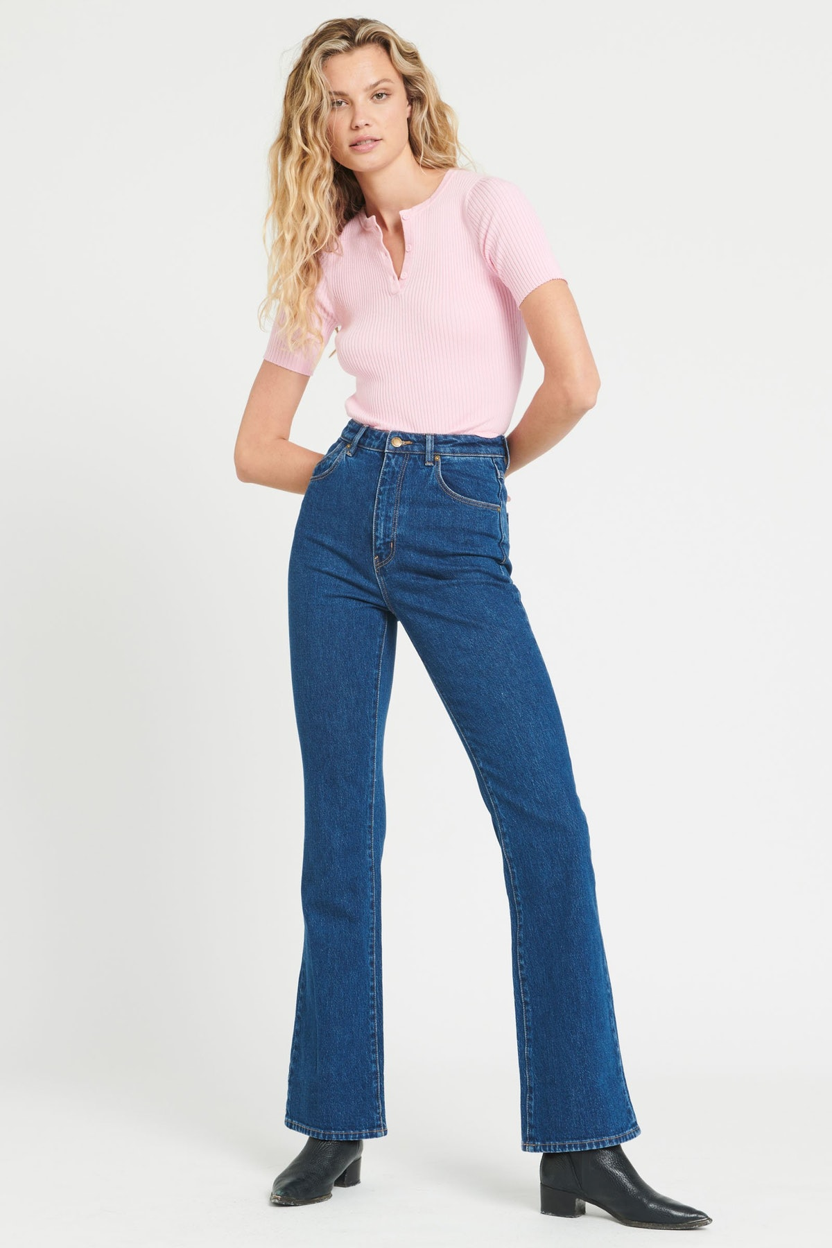 Dusters Bootcut Eco Ruby Blue from Rolla's Jeans.
