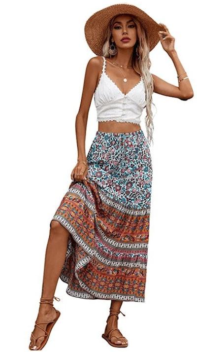 Milumia Vintage Maxi Skirt