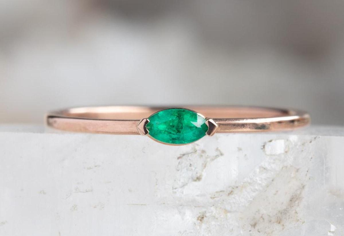 Teensy Emerald Ring