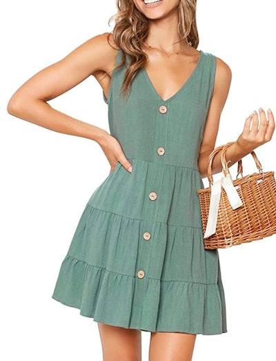 MITILLY Button Down Swing Dress