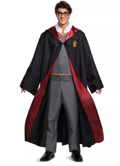 Adult man dressed up in Harry Potter costume