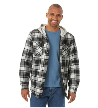 Wrangler Authentics Quilted Lined Flannel Shirt Jacket