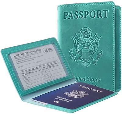 Ciana Leather Passport and Vaccine Card Holder