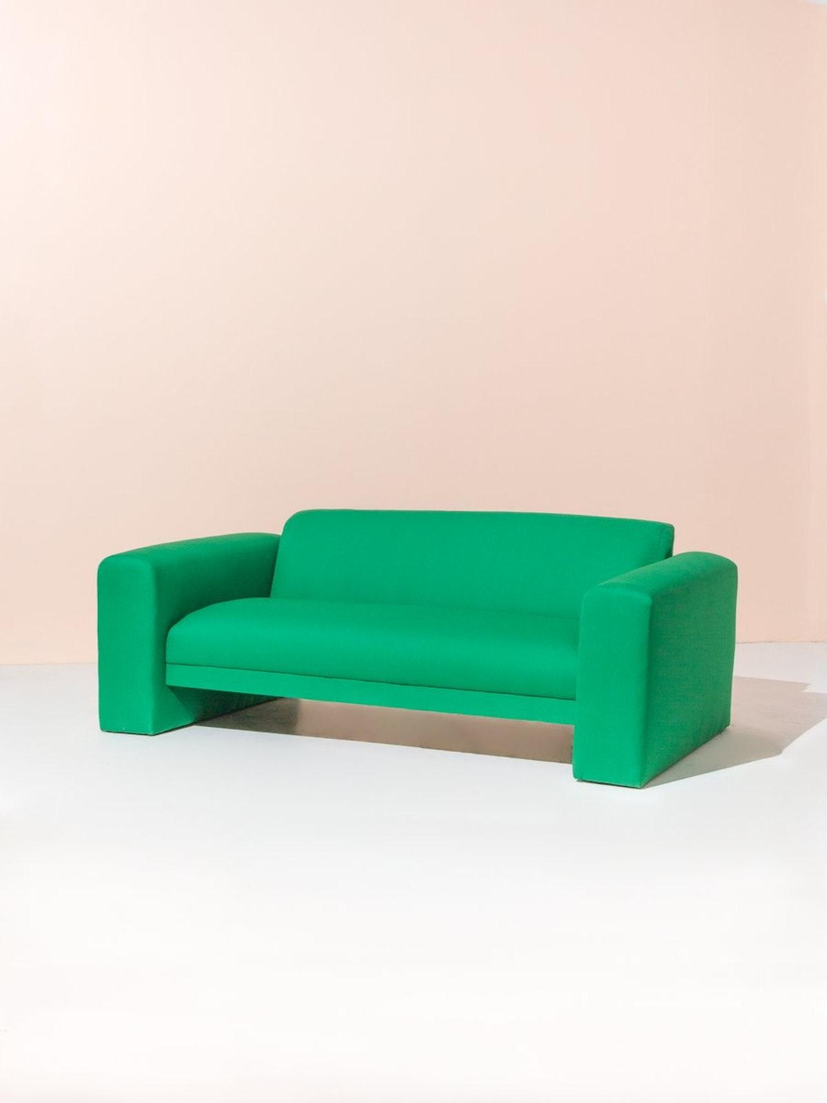 1970s Sofa in Kelly Green