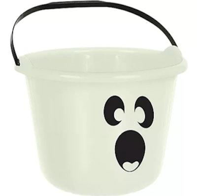 Glow-In-The-Dark Ghost Treat Bucket
