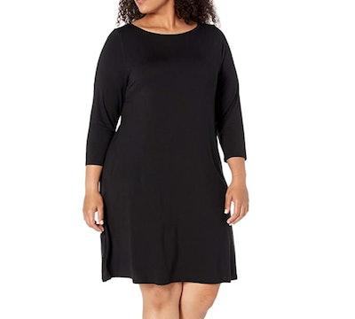 Amazon Essentials Plus-Size Boatneck Dress