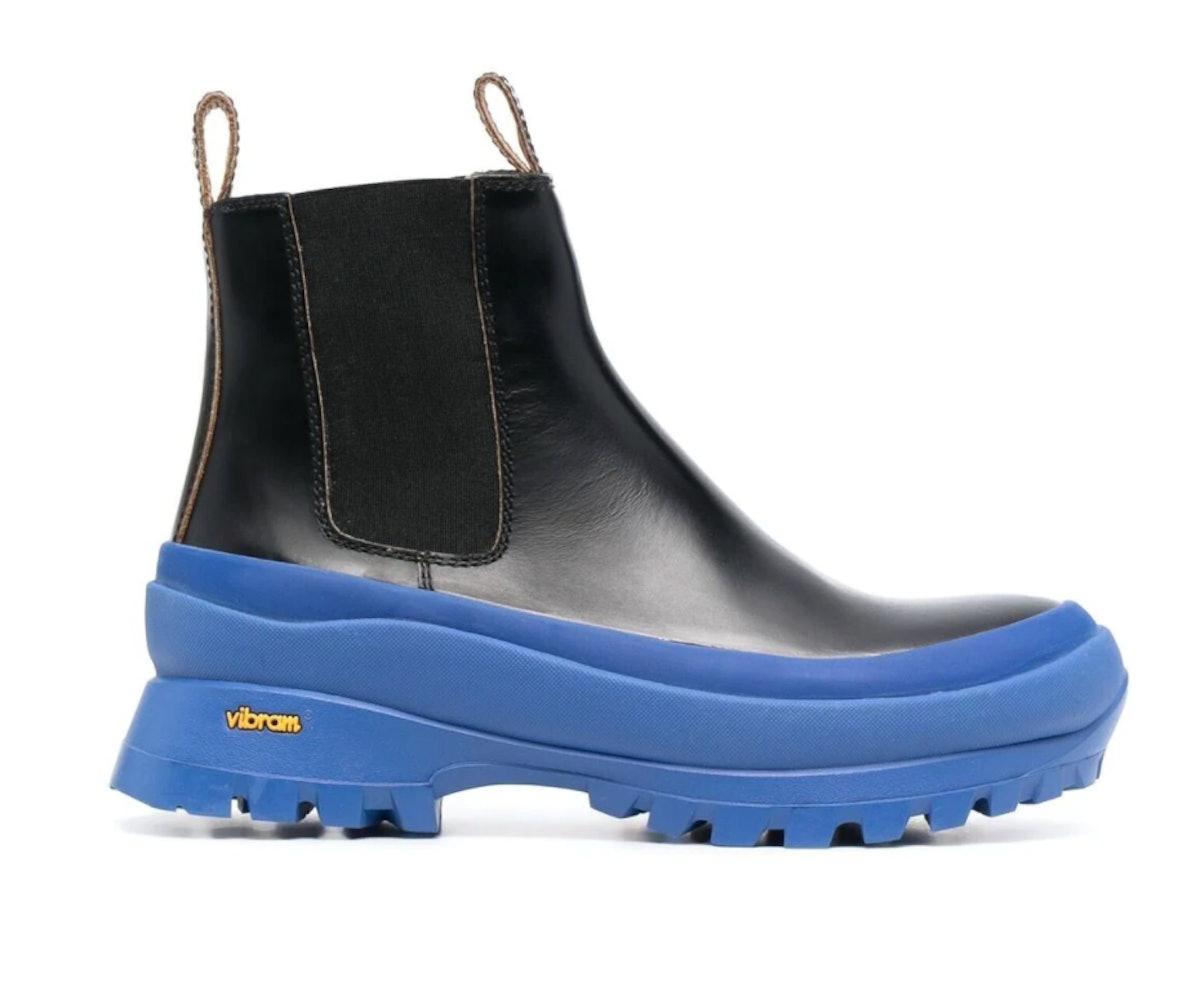 Jil Sander's Contrast-Sole Leather Chelsea Boots.
