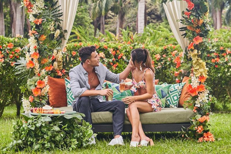 Kyra Lizama and Will Moncada on their first date on 'Love Island US' via CBS' press site