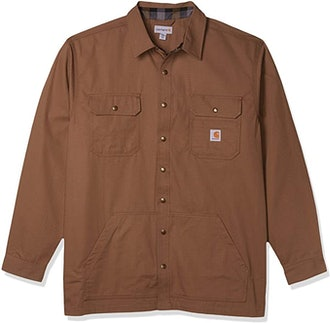 Carhartt Loose Fit Ripstop Flannel-Lined Shirt Jacket
