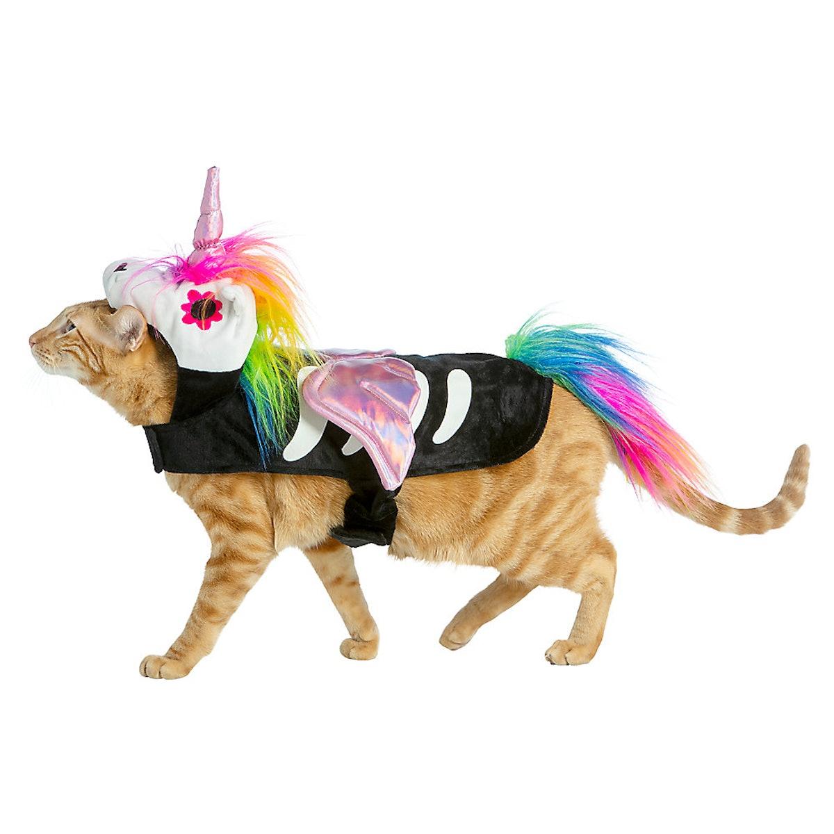 Thrills & Chills Halloween Skeleton Unicorn Cat & Dog Costume