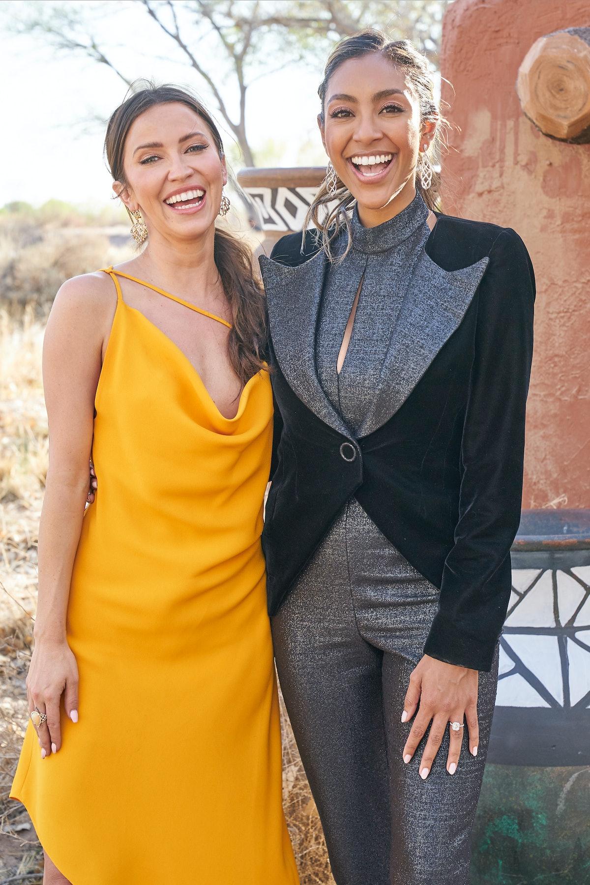 "Kaitlyn Bristowe and Tayshia Adams hosting ""The Bachelorette"""