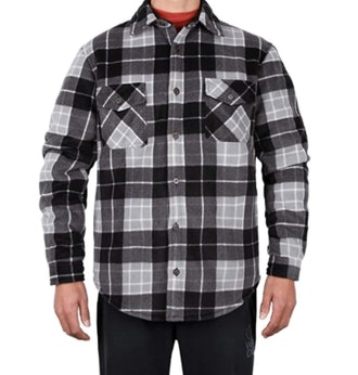 ZENTHACE Sherpa Lined Plaid Flannel Shirt Jacket