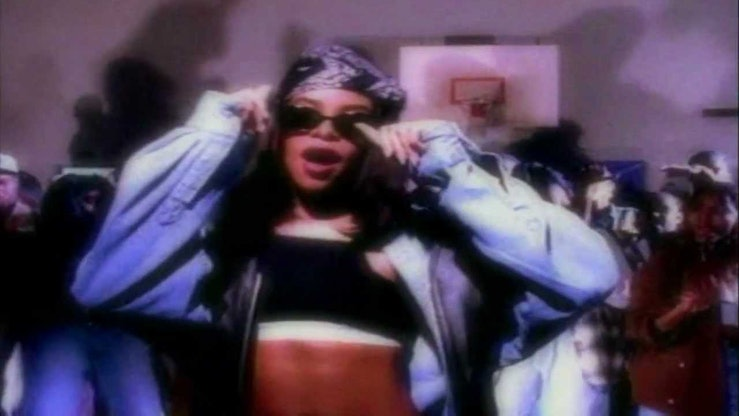 """A still from Aaliyah's """"Back and Forth"""" music video."""