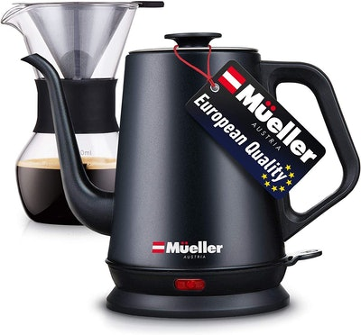 Mueller Electric Kettle with Pour Over Drip Set Coffee Maker