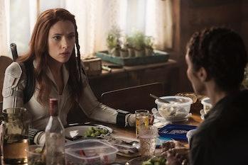 Scarlett Johansson and Rachel Weisz in Black Widow