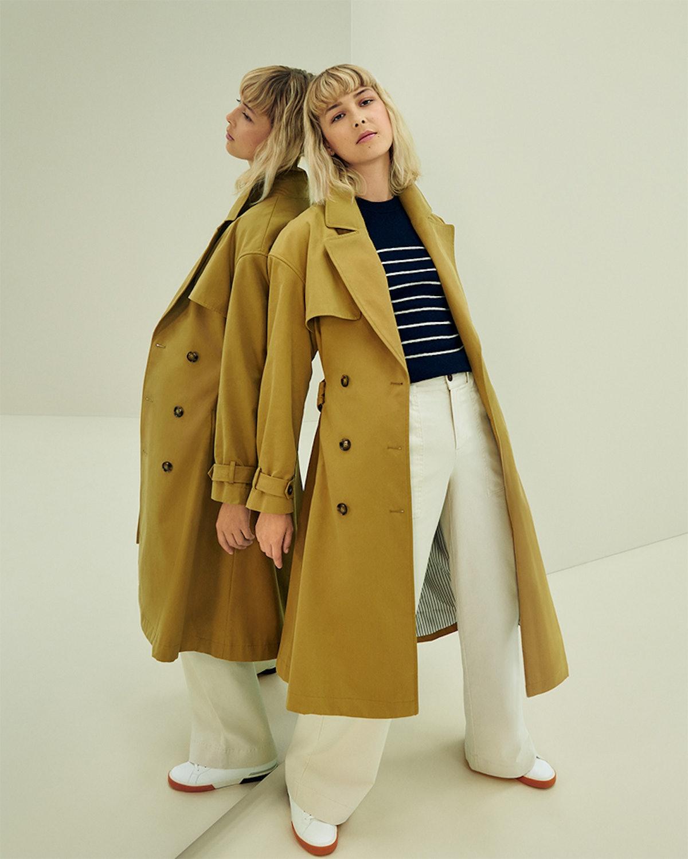 Model wearing garments from Nili Lotan's Target Designer Fall Collection 2021.