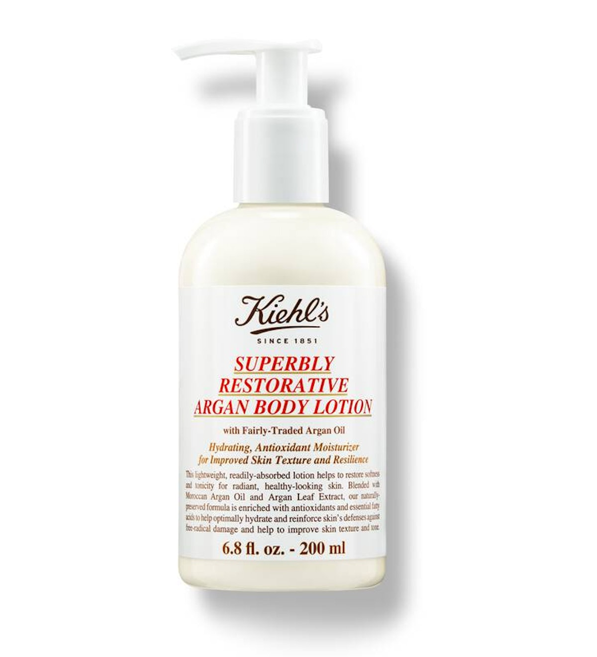 Kiehl's Superbly Restorative Argan Body Lotion All Skin Types
