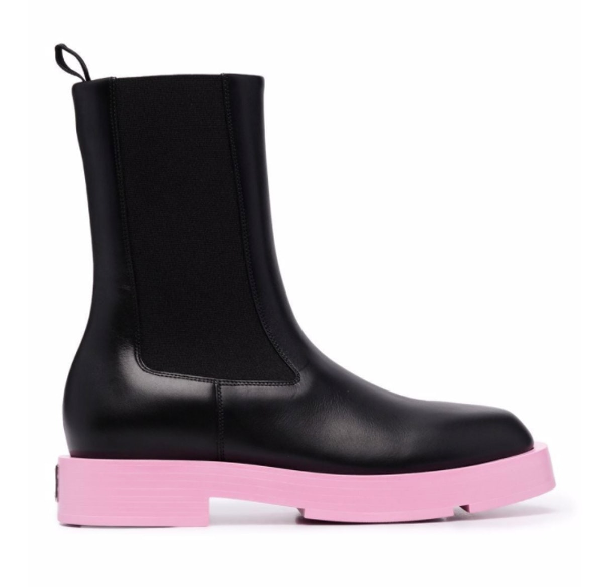 Givenchy's Color Block Leather Chelsea Boots in pink.