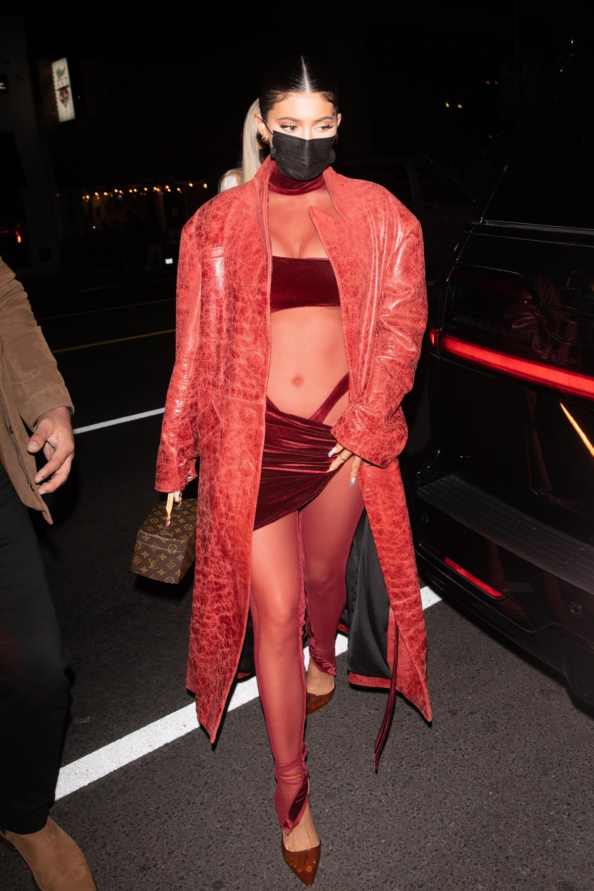 Kylie Jenner in red.