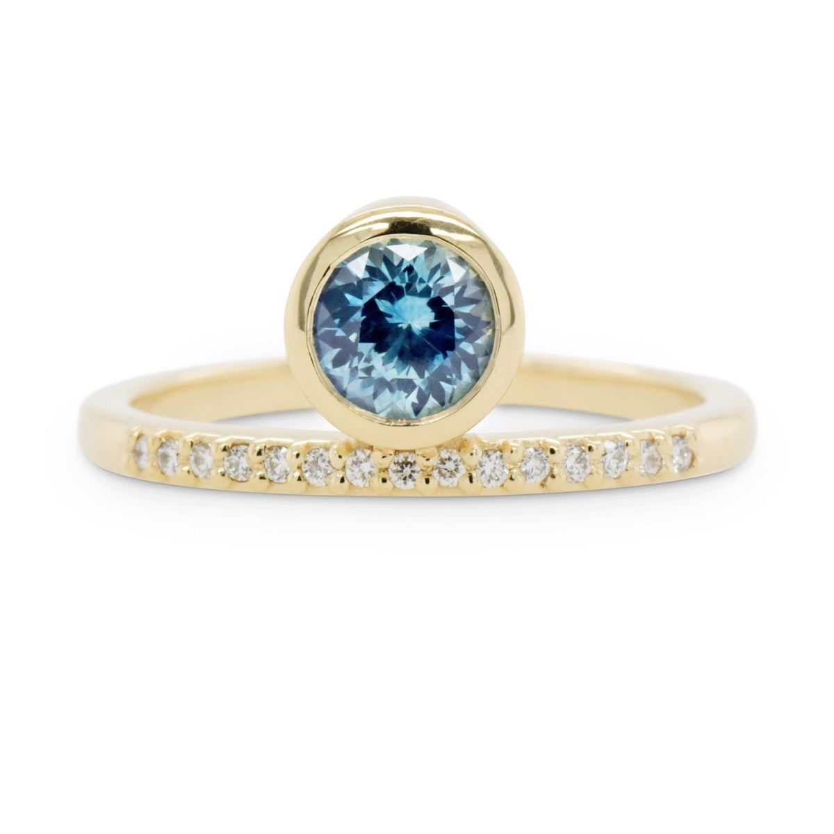 Juno Blue-Teal Sapphire Engagement Ring