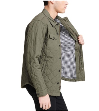 Levi's Stretch Cotton Diamond Quilted Shirt Jacket