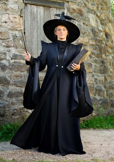 """Woman dressed up in Professor McGonagall costume from """"Harry Potter"""""""