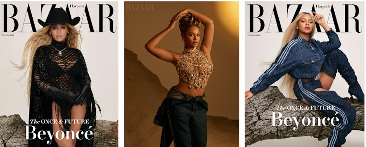 Beyonce Harper's Bazaar beauty looks