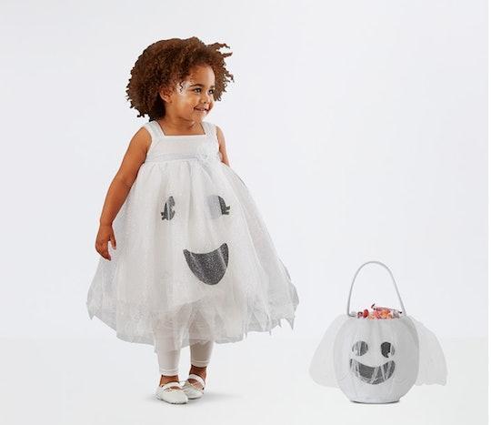 Toddler Light Up Ghost Tutu Halloween Costume