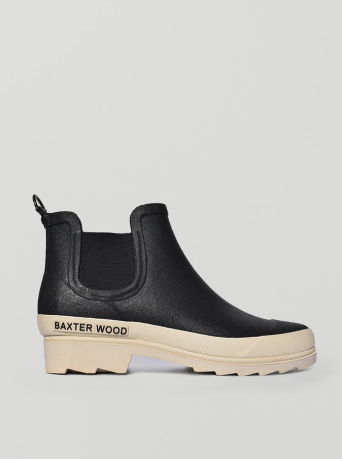 Baxter Wood's White Sold Hevea Chelsea Boots.
