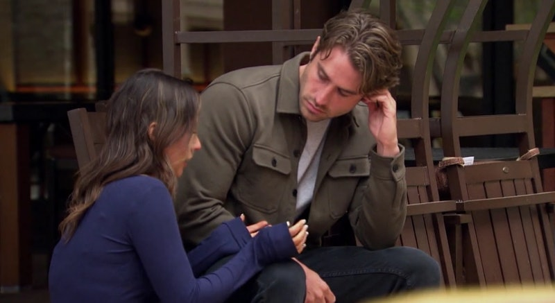 Katie and Greg from The Bachelorette Season 17 talking outside