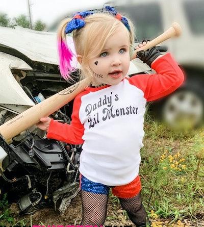 Harley Quinn Toddler Girl Costume