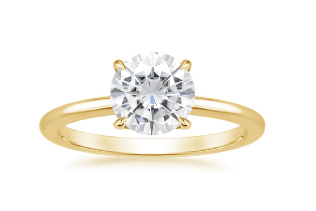 Moissanite Secret Halo Lab Diamond Ring