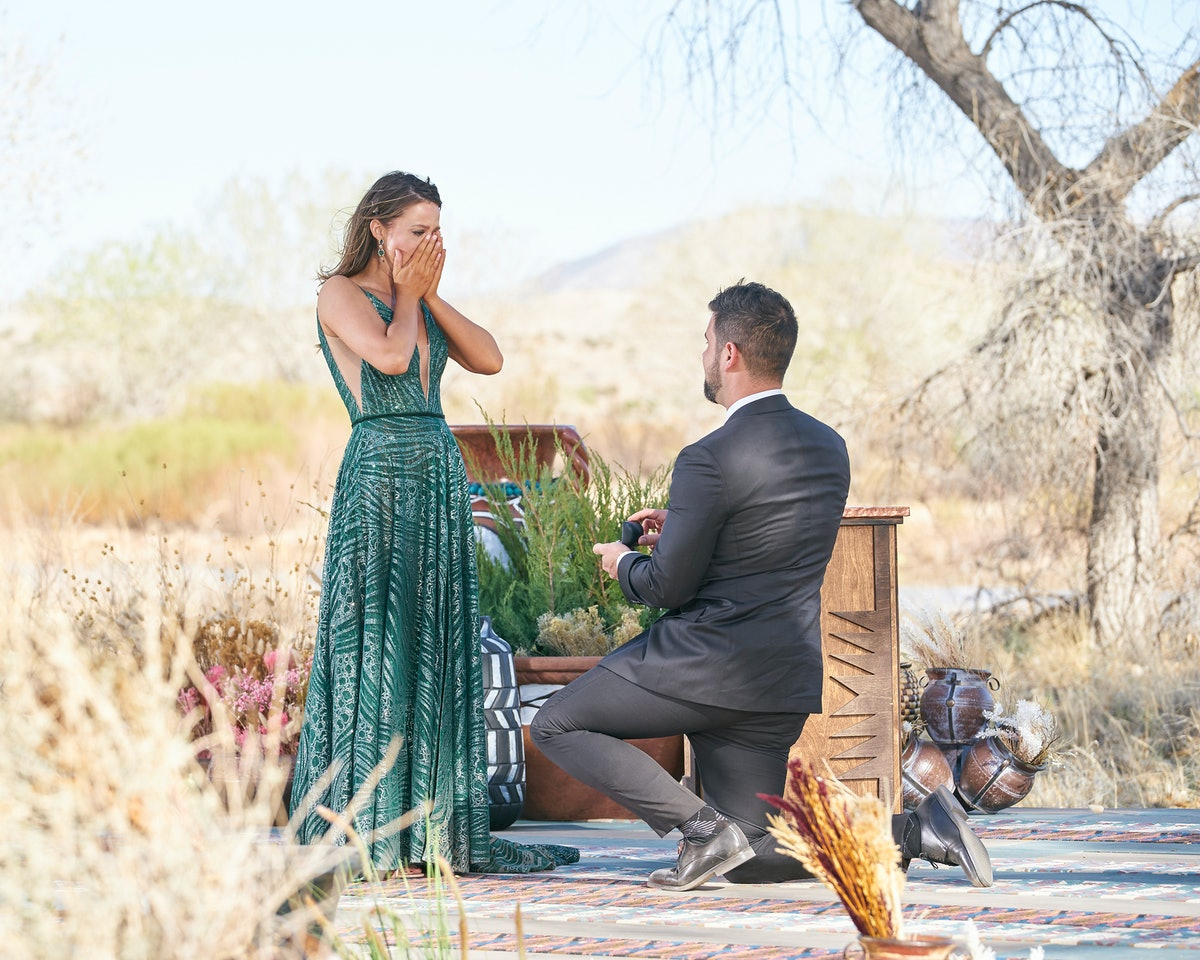 Katie Thurston and Blake Moyne's proposal body language is conflicted.
