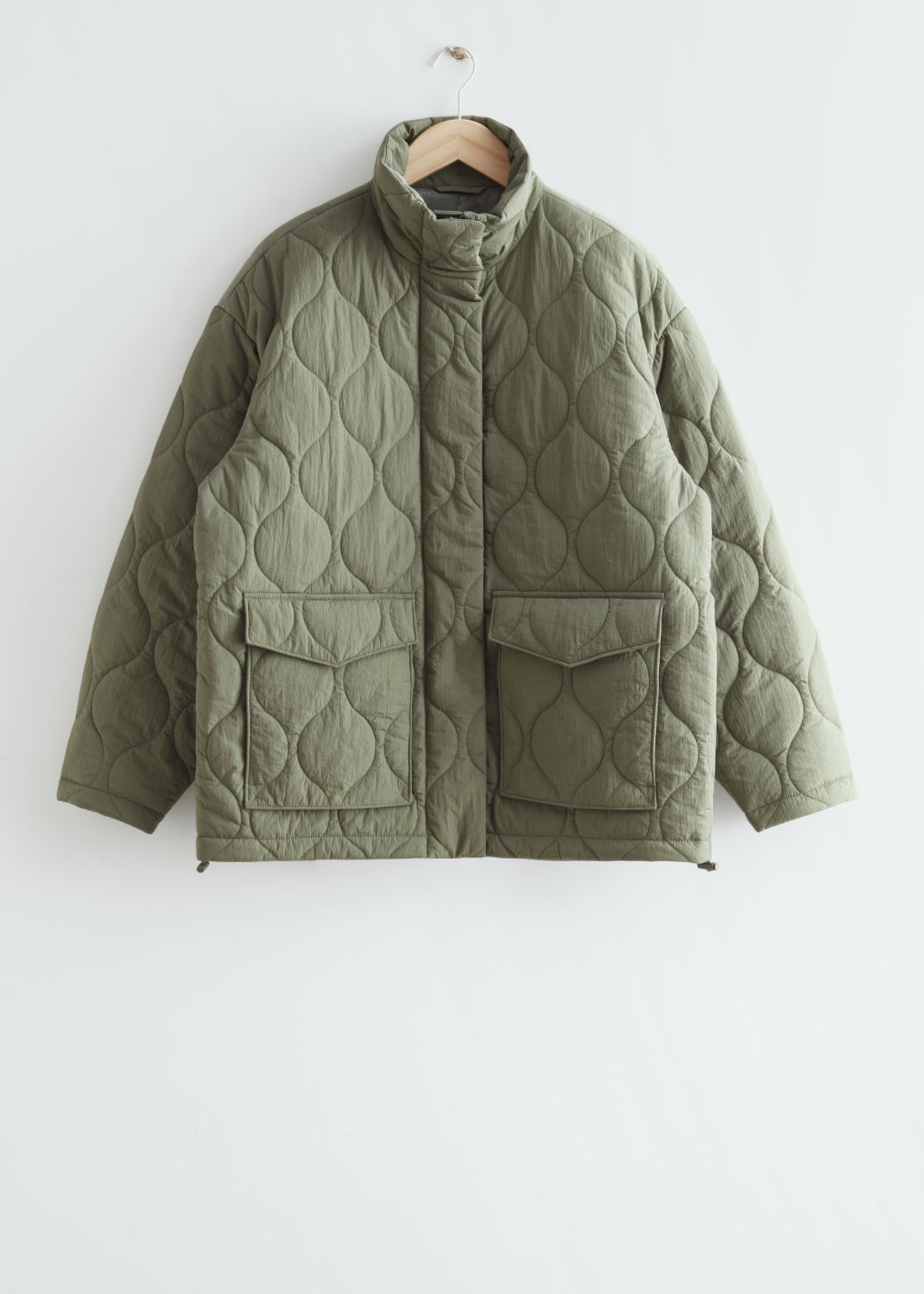 Quilted zip jacket from & Other Stories.