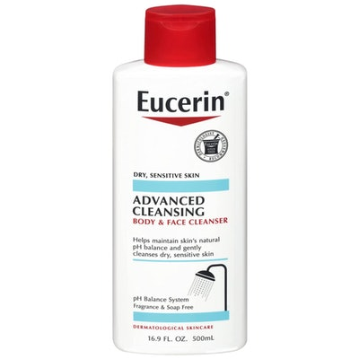 Eucerin Advanced Cleansing Body and Face Cleanser, 16.9 Oz.