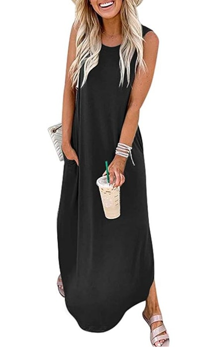 ANRABESS Sleeveless Maxi Dress
